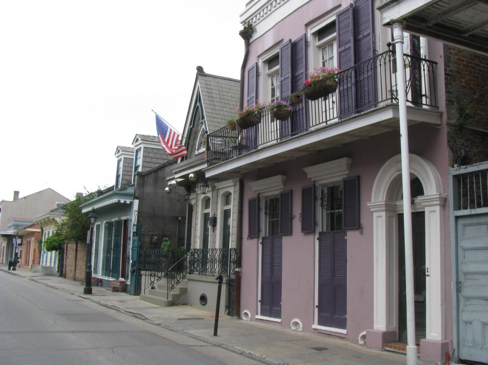 Bourbon Street, yes, Bourbon, but the quiet end.