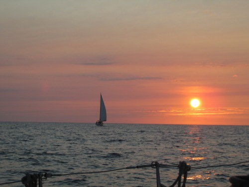 A sunset sail complete with margaritas.