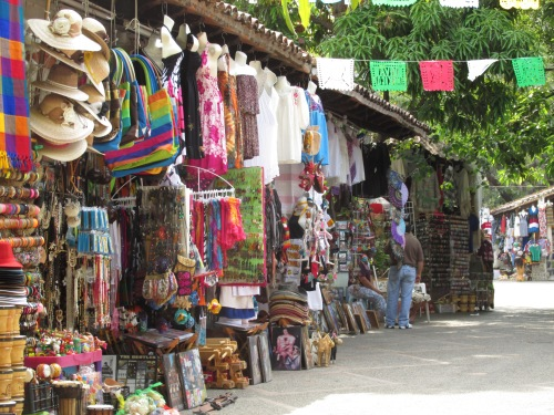 The colorful artisans market on the island in the river in the heart of town.